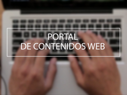 Portal de contenidos web