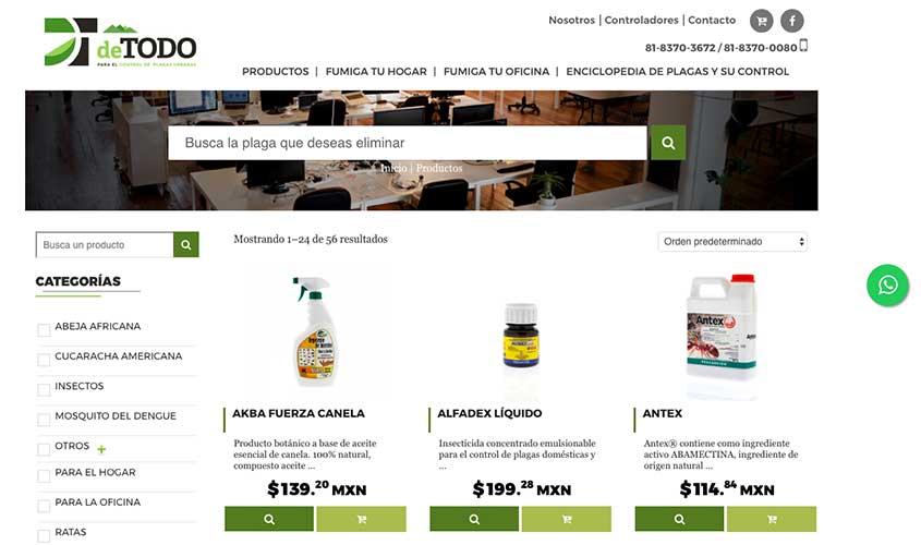 Ejemplo de comercio electrónico desarrollado en WooCommerce