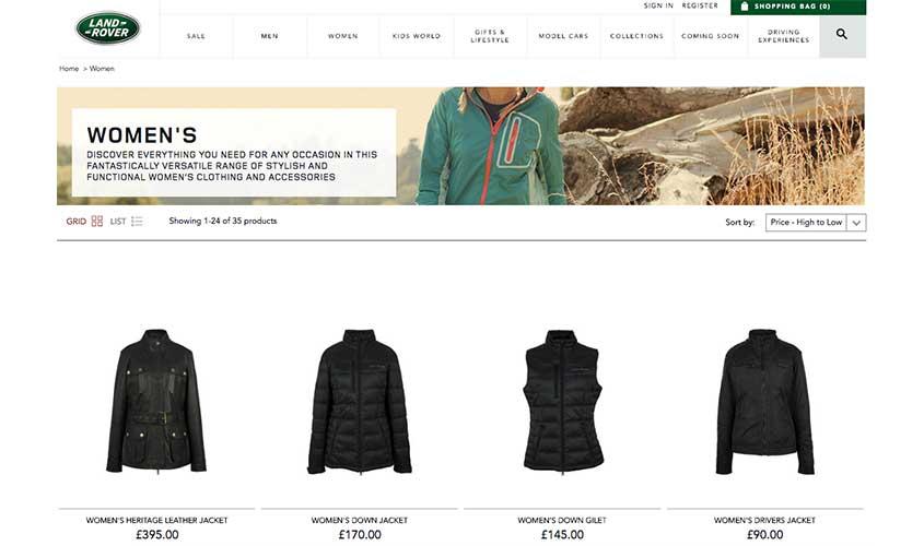 Ejemplo de comercio electrónico desarrollado en Magento